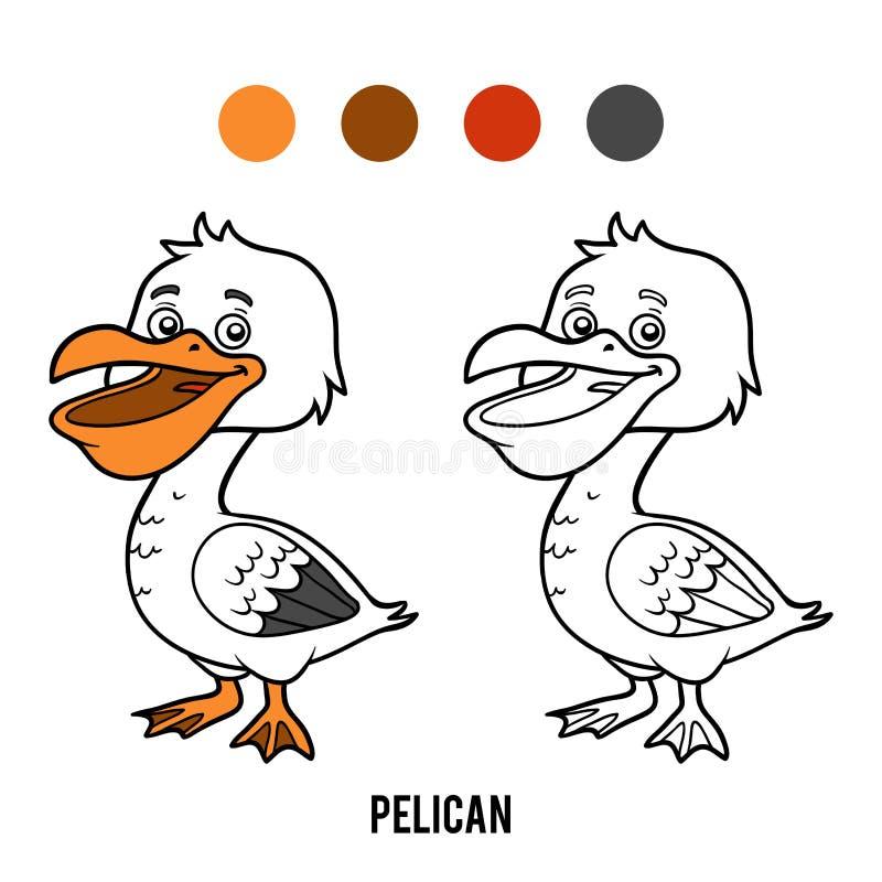 Libro De Colorear, Pelícano Ilustración del Vector - Ilustración de ...