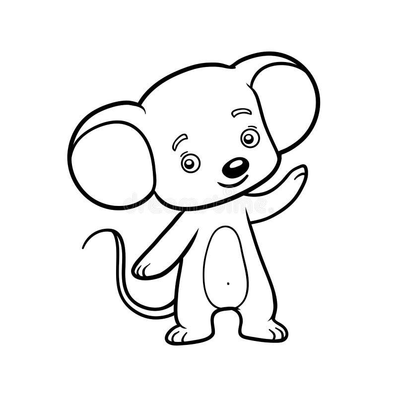 Libro de colorear, ratón libre illustration