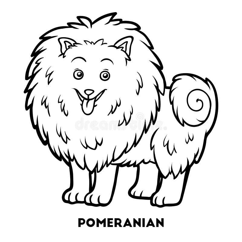 Libro de colorear, razas del perro: Pomeranian libre illustration