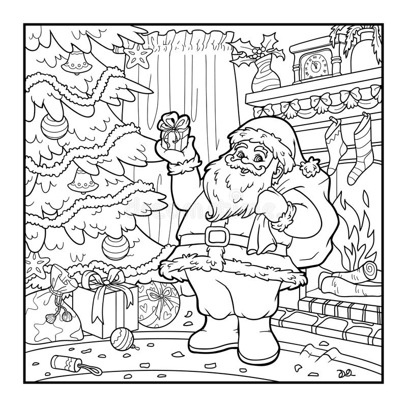 Libro de colorear, Santa Claus libre illustration
