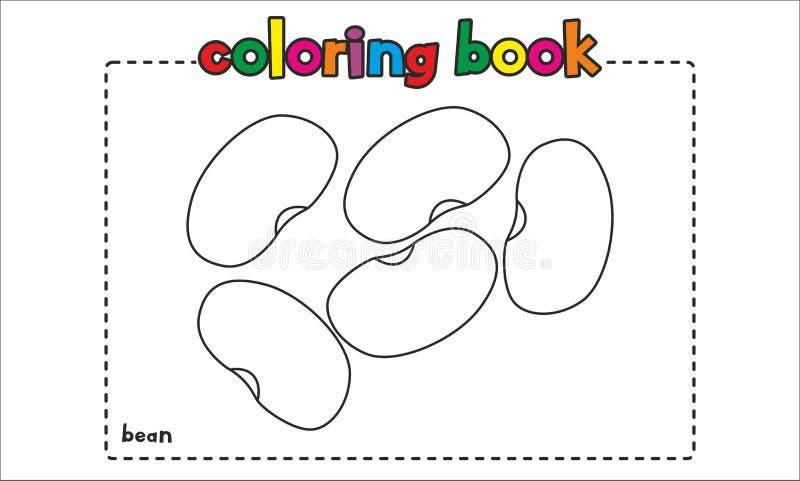 Libro De Colorear Simple De La Haba Para Los Niños Y Los Niños ...