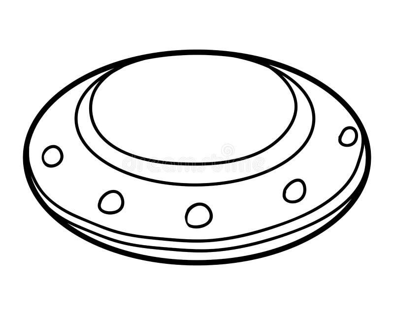 Libro de colorear, UFO stock de ilustración