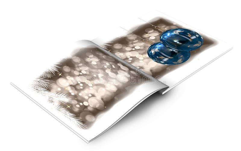 Libro de cuadro de las bolas de la Navidad stock de ilustración