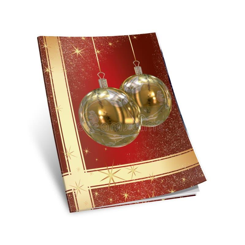 libro de cuadro de las bolas de la Navidad 3D ilustración del vector