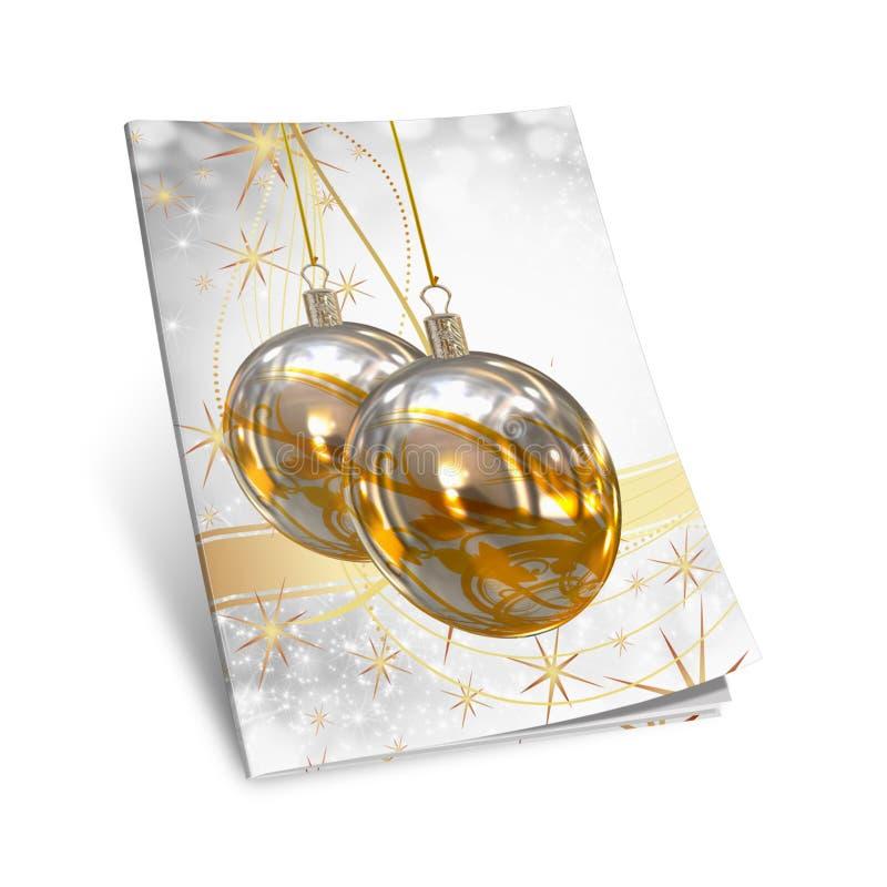 libro de cuadro de las bolas de la Navidad 3D libre illustration