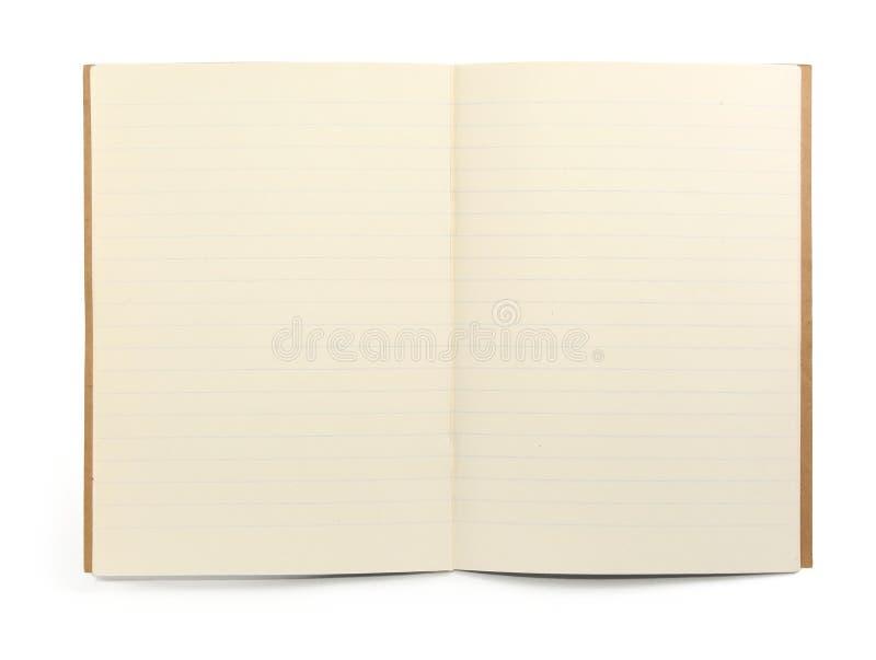 Libro de ejercicio alineado fotos de archivo