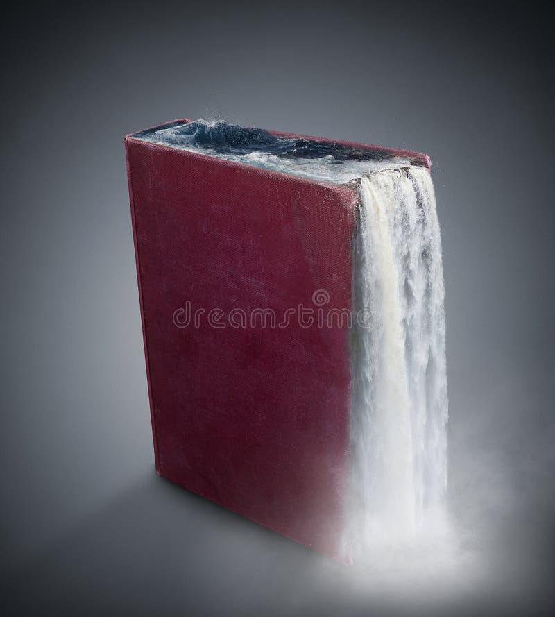 Libro de la cascada fotografía de archivo libre de regalías