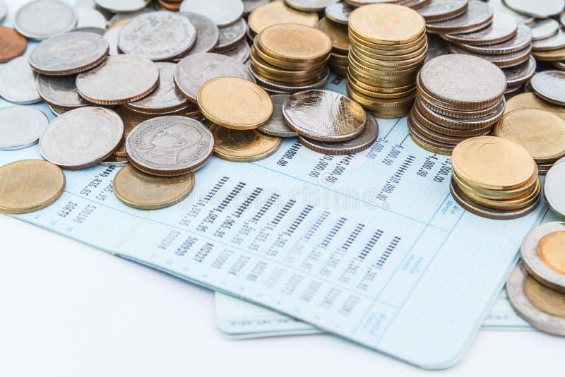 Libro de la cuenta bancaria imagen de archivo