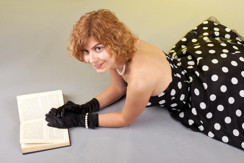 Libro de la muchacha foto de archivo