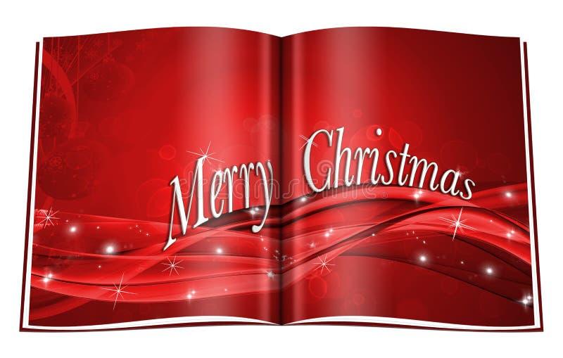 Libro de la Navidad ilustración del vector