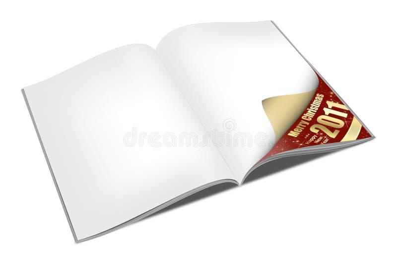Libro de la Navidad para agregar su texto stock de ilustración