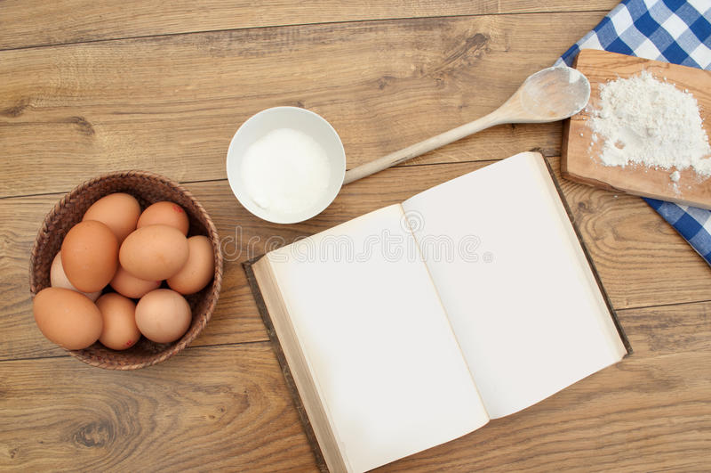 Download Libro de la receta foto de archivo. Imagen de torta, prepárese - 21901878