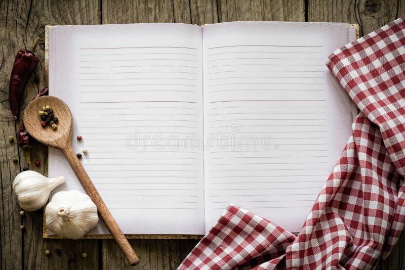 Libro de la receta fotos de archivo libres de regalías