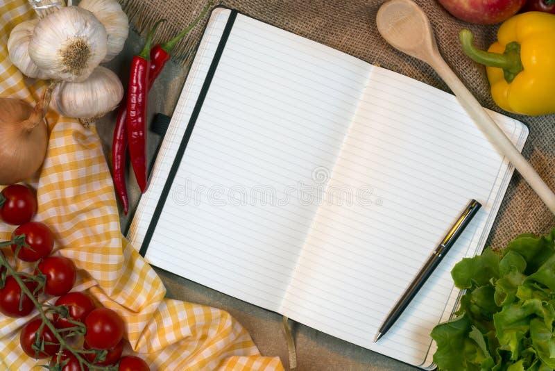 Libro de la receta - espacio para el texto fotografía de archivo libre de regalías