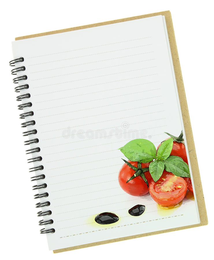 Libro de la receta fotografía de archivo