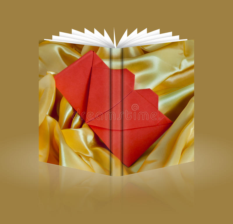 Libro de la tarjeta de la invitación de la boda stock de ilustración