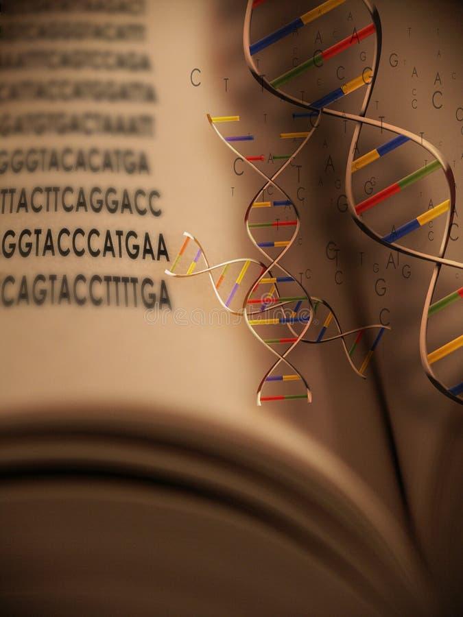 Libro de la vida: Genética 2 ilustración del vector