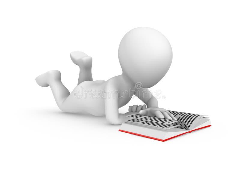 libro de lectura del hombre blanco 3d libre illustration