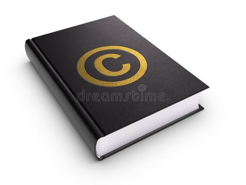 Libro de los derechos reservados ilustración del vector