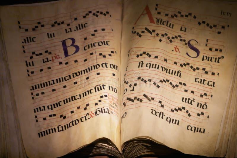 Libro de música antiguo fotografía de archivo libre de regalías