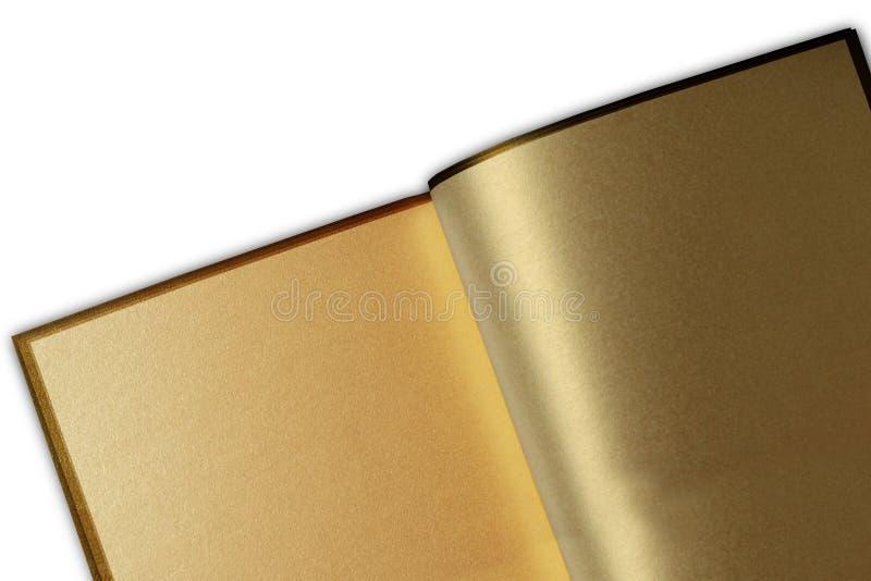 Libro de oro fotografía de archivo