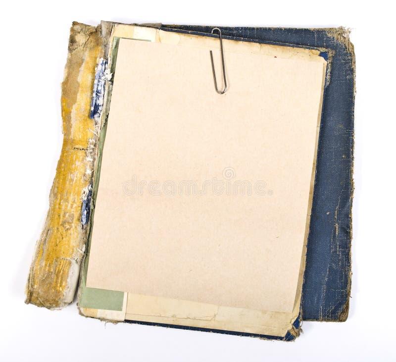 Libro de papeles antiguo fotos de archivo