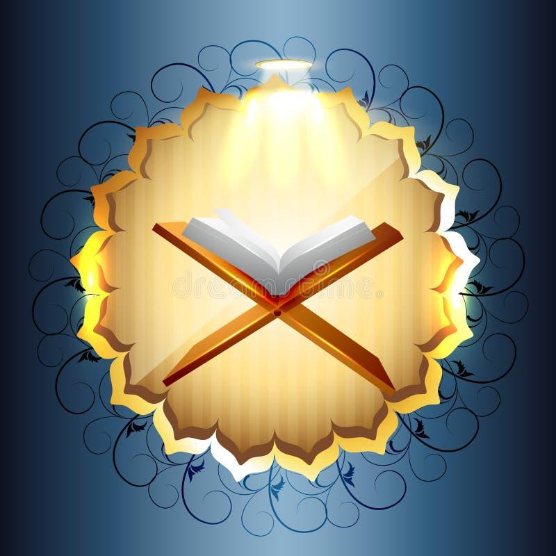 Libro de Quraan ilustración del vector