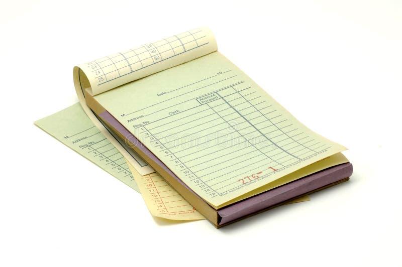 Libro de recibo foto de archivo libre de regalías