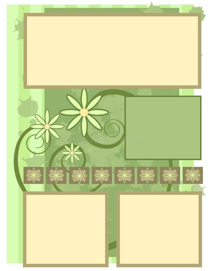 Libro de recuerdos - flor Grunge ilustración del vector