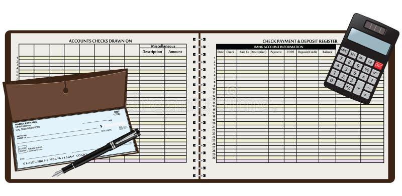 Libro de registro stock de ilustración