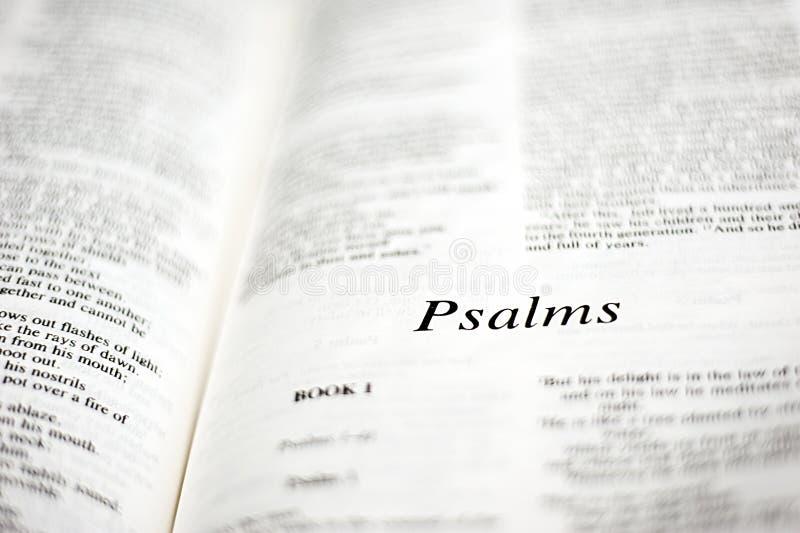 Libro de salmos imagen de archivo