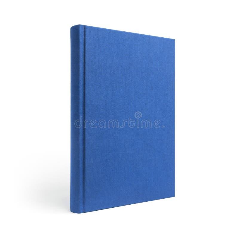 Libro de tapa dura derecho azul aislado, opinión de perspectiva imágenes de archivo libres de regalías