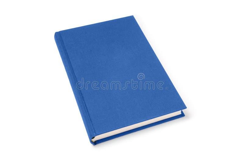 Libro de tapa dura de mentira azul aislado, opinión de perspectiva imagen de archivo