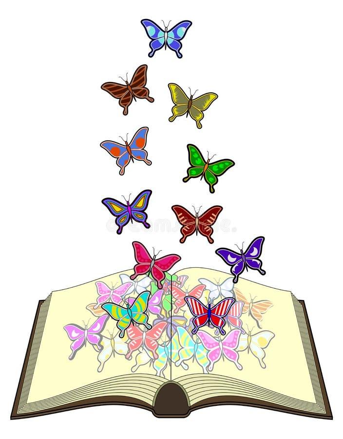 Libro dei butterfliess di colore illustrazione di stock