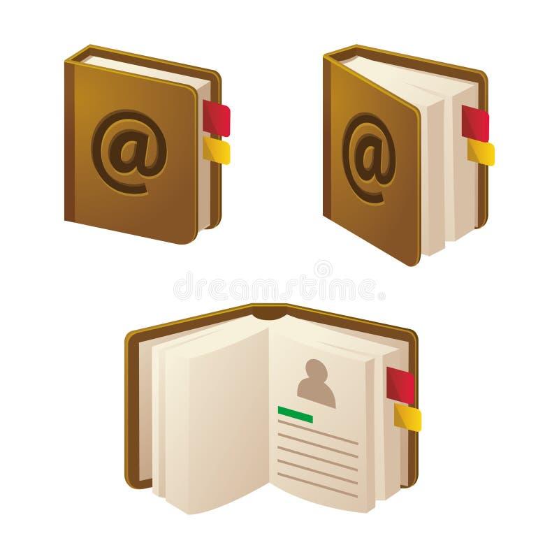 Libro del contacto fotos de archivo libres de regalías