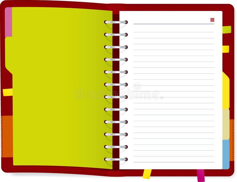 Libro del diario illustrazione di stock