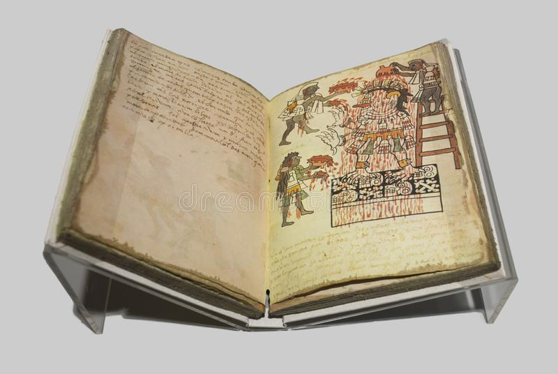 Libro del facsímil del códice Tudela de Actec fotografía de archivo libre de regalías