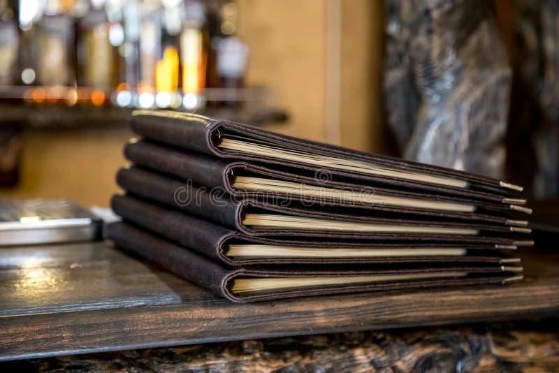 Libro del menú del restaurante imágenes de archivo libres de regalías