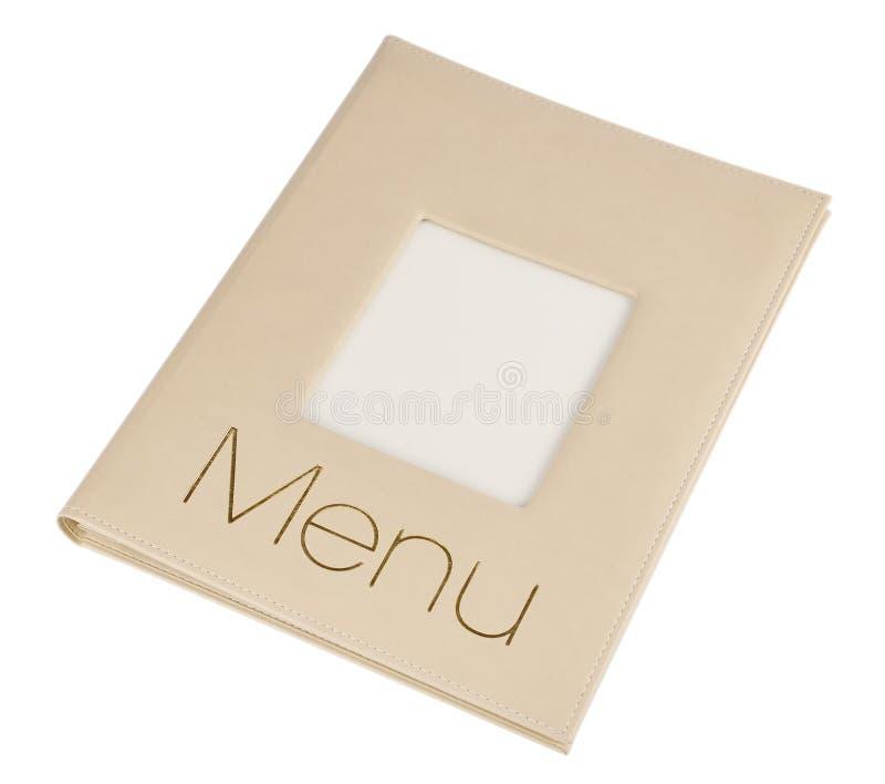 Libro del menu fotografia stock