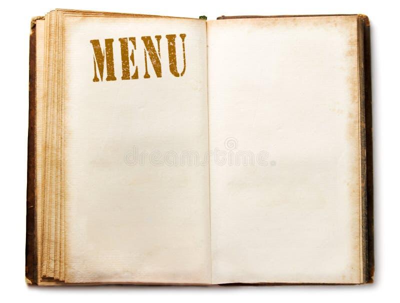 Libro del menu immagini stock