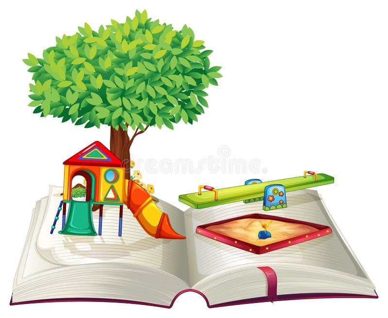 Libro del patio en parque libre illustration