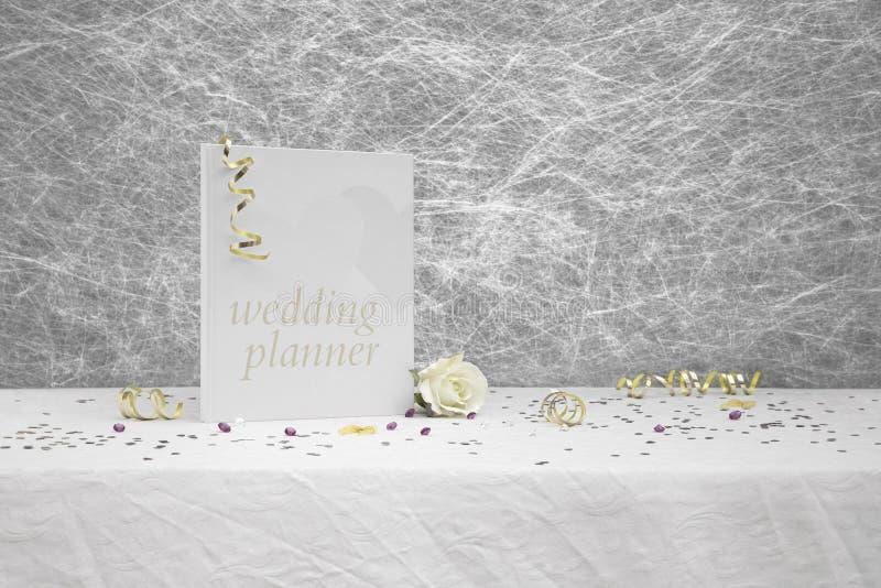 Libro del pianificatore di nozze fotografie stock