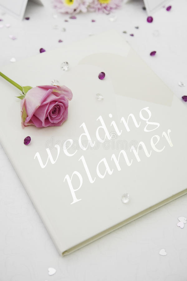 Libro del planificador de la boda fotos de archivo libres de regalías