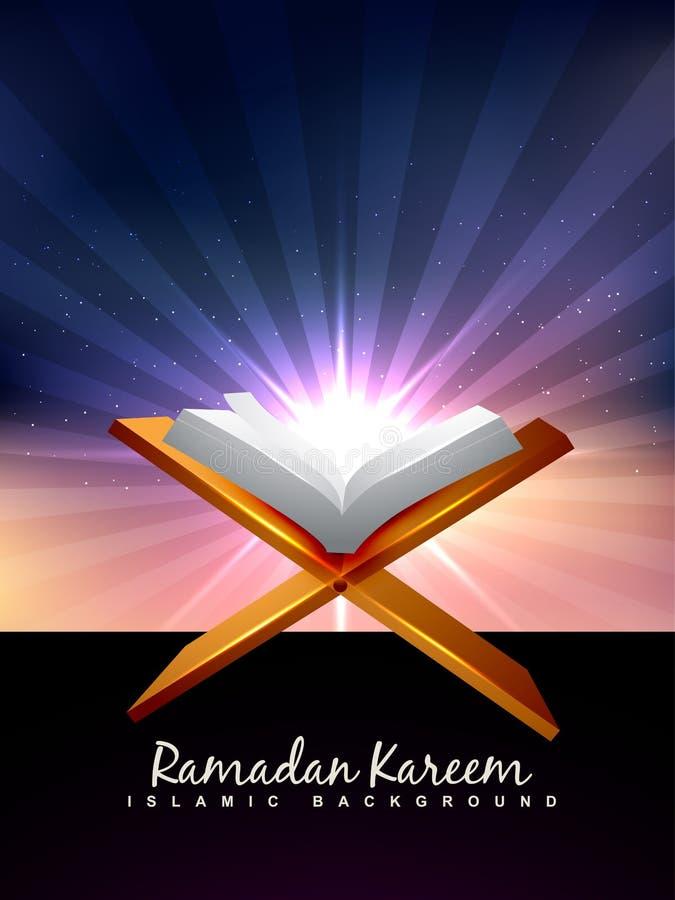 Libro del Quran stock de ilustración