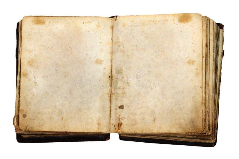 Libro dell'annata con le pagine in bianco fotografie stock libere da diritti