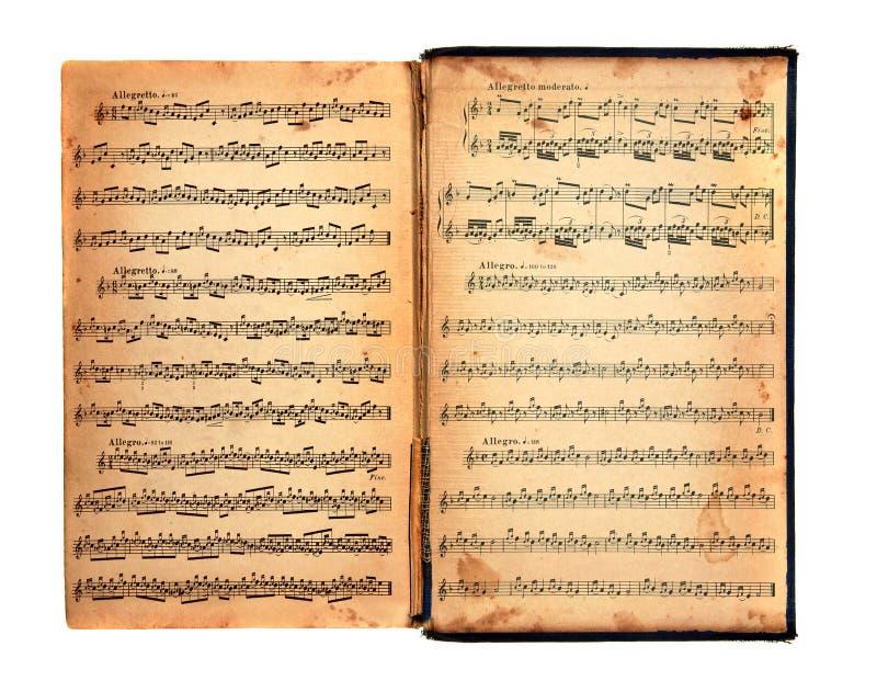 Libro dell'annata di musica fotografie stock libere da diritti