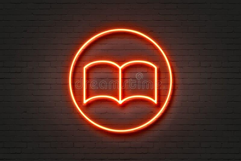 Libro dell'icona della luce al neon royalty illustrazione gratis
