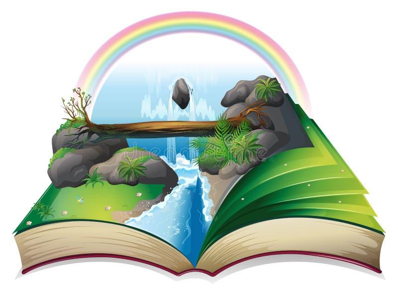 Libro della cascata illustrazione di stock