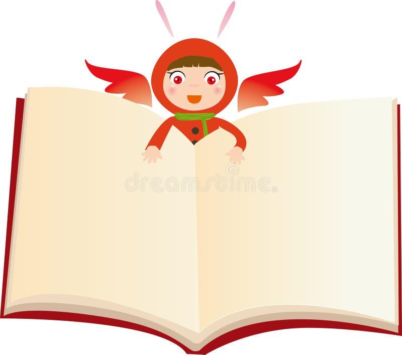Libro dello stregone illustrazione di stock