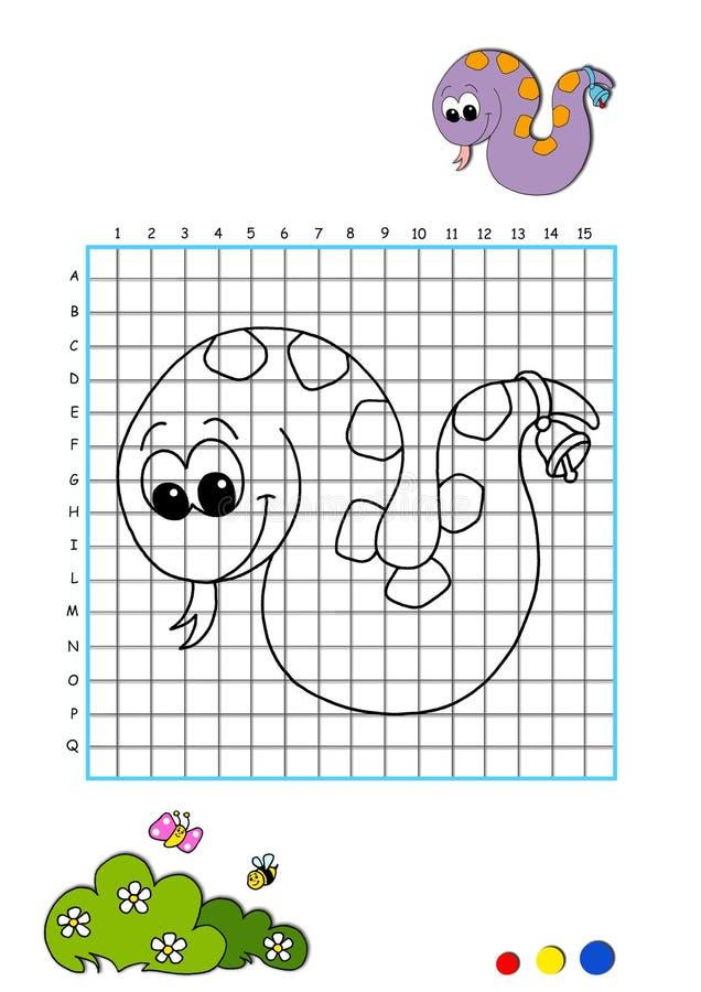 Libro di coloritura 10 - serpente illustrazione di stock
